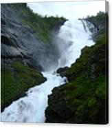 Norwegian Waterfall Canvas Print
