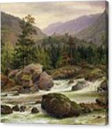 Norwegian Waterfall Canvas Print