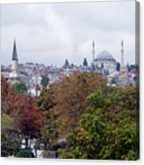 Nostalgia Of The Autumn In Istanbul Canvas Print