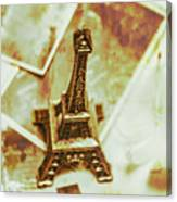 Nostalgic Mementos Of A Paris Trip Canvas Print