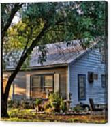 Nostalgic Old Cottage In Evening Light Canvas Print