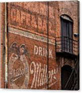 Nostalgic Painted Advertising Canvas Print