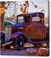 Nostalgic Rusty International Pickup Canvas Print