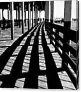 Nostalgic Walk On The Pier Canvas Print