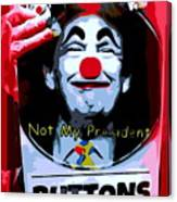 Not My President Canvas Print
