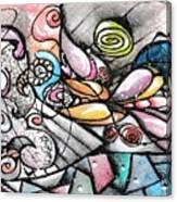Note Card Art Canvas Print