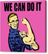 Notorious Rbg Ruth Bader Ginsburg We Can Do It Pop Art Canvas Print