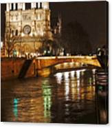 Notre Dame Bridge Paris France Canvas Print