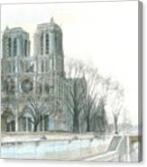 Notre Dame Cathedral In March Canvas Print