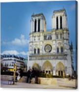 Notre Dame Cathedral Paris 3 Canvas Print