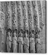 Notre Dame Doorway Detail Paris France Canvas Print