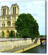 Notre Dame On The Seine Canvas Print
