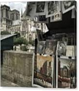 Notre Dame Street Art Canvas Print
