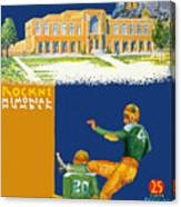 Notre Dame Versus Minnesota 1938 Program Canvas Print