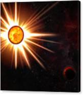 Nova And Dead Star Canvas Print