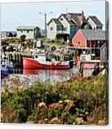 Nova Scotia Fishing Community Canvas Print