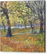 November In Hyde Park Canvas Print