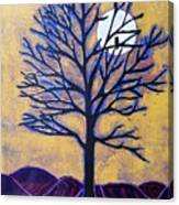 November Moon Flash Canvas Print