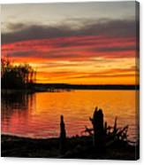 November Sunset Manasquan Reservoir Nj Canvas Print