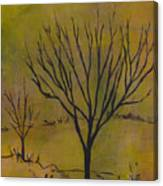 November Tree Canvas Print