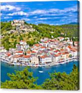 Novigrad Dalmatinski Waterfront And Bay View Canvas Print