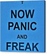 Now Panic 21 Canvas Print