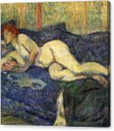 Nu Couche Naked Lying  Canvas Print
