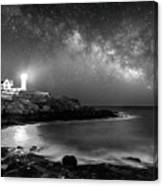 Nubble At Night Canvas Print