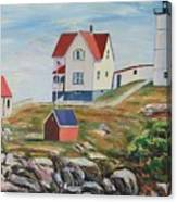 Nubble Light House Maine Canvas Print