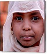 Nubian Girl In Color Canvas Print