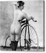 Nude And Bicycle, C1885 Canvas Print
