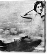 Nude As Mermaid, 1890s Canvas Print