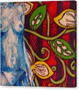 Nude Flower Canvas Print