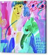 Nude, Garden Of Eden Canvas Print