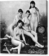 Nude Group, 1889 Canvas Print
