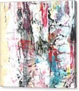 Nude In Abstract Canvas Print