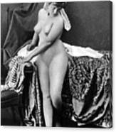 Nude In Bonnet, C1885 Canvas Print