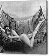 Nude In Hammock, C1885 Canvas Print