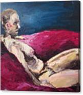 Nude In The Style Of Rembrandt Canvas Print