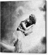 Nude Love Scene, 1890s Canvas Print