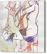 Nude Piano Canvas Print