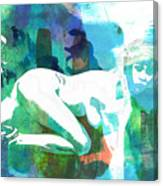 Nude Woman Painting Photographic Print 0031.02 Canvas Print