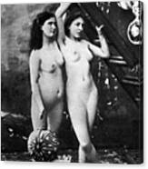 Nudes At Festival, C1900 Canvas Print