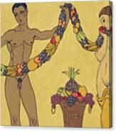 Nudes  Illustration From Les Chansons De Bilitis Canvas Print