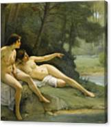 Nudes In The Woods Canvas Print