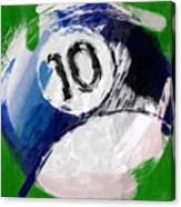 Number Ten Billiards Ball Abstract Canvas Print