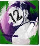 Number Twelve Billiards Ball Abstract Canvas Print