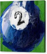 Number Two Billiards Ball Abstract Canvas Print