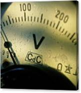 Numbers On The Dial Of A Voltmeter Canvas Print