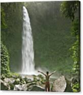 Nungnung Waterfall Canvas Print